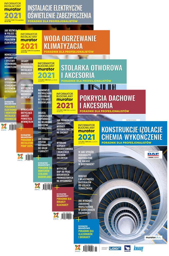 Informator Budowlany-murator 2021 + Informator Instalacyjny-murator 2021 - DRUK